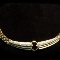 Collana oro bianco e giallo