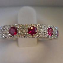 Anello rubini e diamanti