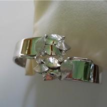 bracciale  oro bianco con foglie e diamanti