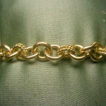 bracciale oro giallo a maglie tonde
