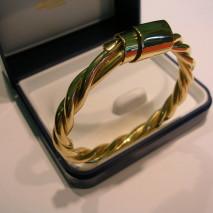 bracciale oro giallo filo intrecciato