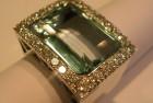 anello oro bianco acqua marina e diamanti