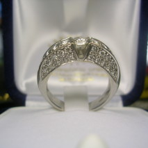 anello oro bianco e diamanti