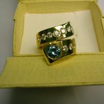 anello oro giallo e diamanti